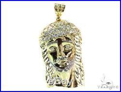 Mens Cubic Zirconia Sterling Silver Pendant 46.50 grams
