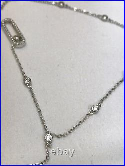 Messika Joaillerie Cubic Zirconia 925 Sterling Silver 18-20 Adjustable Necklace