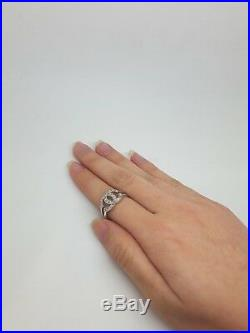 Miran 221102 Sterling Silver Cubic Zirconia Feature Ring Size P1/2 3.5g RRP $185