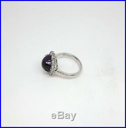 Miran 262188 Roy King Cabochon Amethyst Colour Cubic Zirconia Ring 6.7g RRP$225