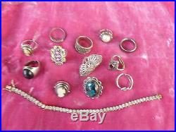 Mixed Lot Of Sterling Silver Jewelry With Cubics, Marcasites And Cameos