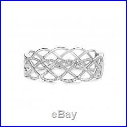 NEW Genuine Ti Sento Sterling Silver Cubic Zirconia Plait Bangle 2832ZI £350