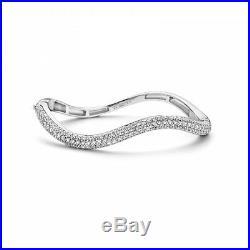 NEW Genuine Ti Sento Sterling Silver Cubic Zirconia Wave bangle 2824ZI £310