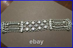 NEW SILPADA. 925 Sterling Silver CAVALIER Cubic Zirconia CZ Bracelet B2711