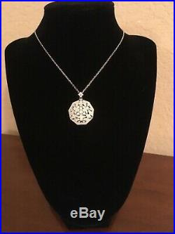 NEW Tacori Epiphany Sterling Silver & Cubic Zirconia pendant necklace 18 chain