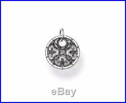 NEW Thomas Sabo Pendant TPE 432BCZ Sterling Silver Filigree Black Cubic Zirconia