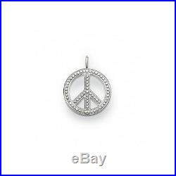 NEW Thomas Sabo Pendant TPE 448CZ Peace Sterling Silver 925 Cubic Zirconia Stone