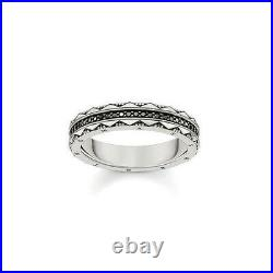 NEW Thomas Sabo Sterling Silver Ring Black Cubic Zirconia 925