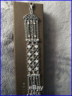 NWT SILPADA. 925 Sterling Silver CZ CAVALIER Cubic Zirconia Bracelet B2711