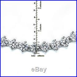 New Sterling Silver Twinkling Round White Cubic Zirconia Bezel Women Bracelet 7