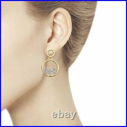 Novelty SOKOLOV 925 gilded silver earrings with cubic zirkonia Puset