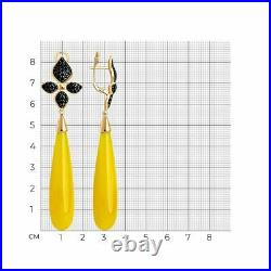 Novelty SOKOLOV Earrings in gilded silver 925 with cubic zirkonia and synthetic