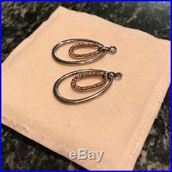 PANDORA. 925 Silver Orange Cubic Zirconia Compose Earring Charms #290630OCZ