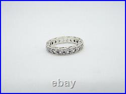 Pandora Sterling Silver Infinity Cubic Zirconia Band Ring, size 9