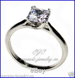 Princess CUT Engagement / Wedding Ring SOLID Sterling Silver Cubic Zirconia CZ