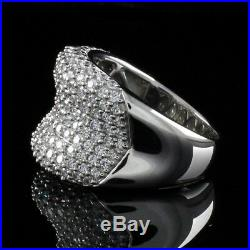 QVC Ring Diamonique Sterling Silver 3.25 ct Cubic Zirconia Concave Size 7