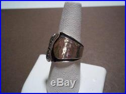 RARE SILPADA R1441 Six Cubic Zirconia Sterling Silver Ring Size 5 HTF Modern