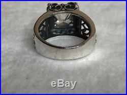 RARE SIZE 9 Silpada Sterling Silver Uptown Cubic Zirconia CZ Filigree Ring R0981