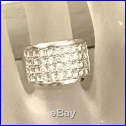 RARE Sz 6 SILPADA R1405 Sterling Silver Channel Set Cubic Zirconia Pave Ring HTF