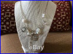 RV$189 Silpada N2805 Sterling Silver, Pearl, Cubic Zirconia Enchanted Necklace