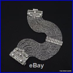 Rare Byzantine Cubic Zirconia 925 Sterling Silver Greek Handmade Art Bracelet