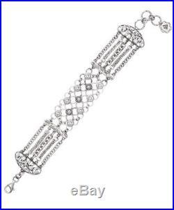 SILPADA. 925 Sterling Silver CAVALIER Cubic Zirconia CZ Bracelet B2711 NEW