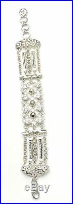 SILPADA. 925 Sterling Silver CAVALIER Cubic Zirconia CZ Bracelet B2711 RETIRED