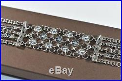 SILPADA. 925 Sterling Silver CAVALIER Cubic Zirconia CZ Bracelet B2711 SHINY wow