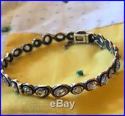 SILPADA B2710 Sterling Silver Cubic Zirconia Brilliance Bangle Bracelet Was $249