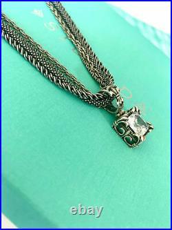 SILPADA N1719 Multi Chain Popcorn Necklace Uptown Pendant S0979 Cubic Zircon