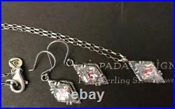 SILPADA N1882 Marquise Cubic Zirconia Necklace & Earring Set W1884 MINT