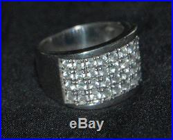 SILPADA R1405 Sterling Silver Channel-Set Cubic Zirconia Ring Sz 7 RARE HTF