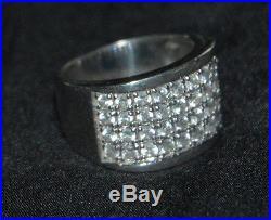 SILPADA R1405 Sterling Silver Channel-Set Cubic Zirconia Ring Sz 8 RARE HTF