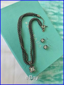 SILPADA UPTOWN SET W0975 N1719 Multi Chain CZ Earrings Pendant S0979 Cubic HTF