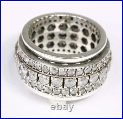 STATEMENT RING Sterling Silver Cubic Zirconia Spinner Ring
