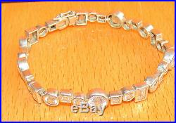 Secondhand Jasper Conran Sterling Silver Multi Cubic Zirconia Line Bracelet