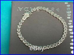 Silpada 925 Sterling Silver Cubic Zirconia Tennis Bracelet B1323