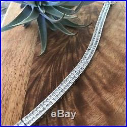 Silpada B1390 DOUBLE CZ Sterling Silver Tennis Bracelet. 925 Cubic Zirconia Rare