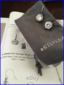 Silpada Cinema Star Earrings Cubic Zirconia W2393 (SOLD OUT) NIB