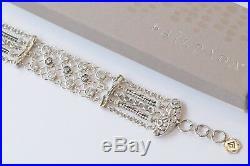 Silpada Cubic Zirconia Sterling Silver Chain Cavalier Bracelet B2711 $259