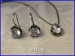Silpada N1969 Center Stage Cubic Zirconia Necklace & Matching Earrings W1863