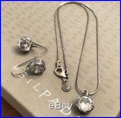 Silpada N2380 W2393 Cinema Star Cubic Zirconia Necklace & Earrings Set