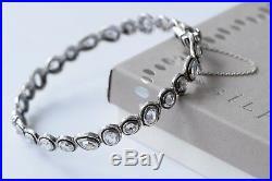 Silpada NEW Sterling Silver Brilliance Cubic Zirconia Bangle Bracelet B2710