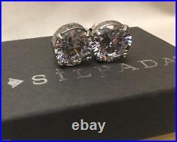 Silpada P2381 Cubic Zirconia Crown Jewel Stud Earrings MINT IN BOX