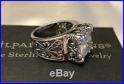 Silpada R0981 Uptown Cubic Zirconia Sterling Silver Ring SZ 6 MINT IN BOX