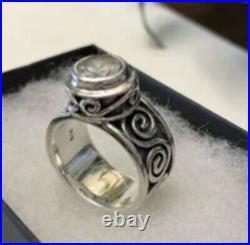Silpada R1233 Bezel Set Cubic Zirconia Sterling Silver Ring Size 8 RARE HTF