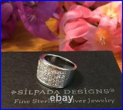 Silpada R1405 Size 7 Cubic Zirconia Sterling Silver Filigree Ring MINT