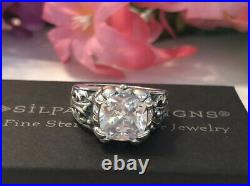 Silpada R3368 Blissful Thinking Cubic Zirconia Sterling Silver RingSize 8 NEW
