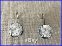Silpada RARE Center Stage 10mm Cubic Zirconia Sterling Silver Earring W1863 HTF
