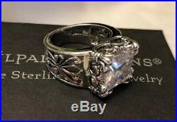 Silpada Size 10 Uptown Cubic Zirconia Sterling Silver RingR0981 MINT